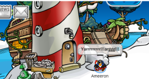 rockhopper in island