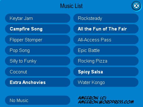 music list